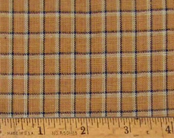 "Antique Mustard Homespun Cotton Fabric (Full Yard 36"" x 44"")"