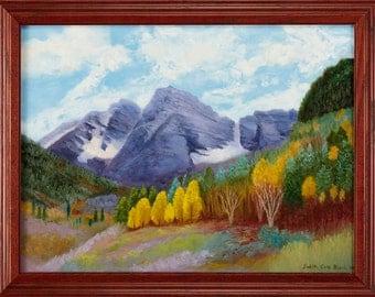 Oil Painting, Maroon Belles