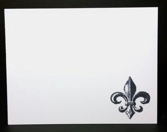 6 Fleur de Lis Blank Card Set, Fleur de Lis Notecards, French Card Set, Fleur de Lis Notecard Set