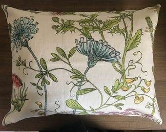 Pillow - Robert Allen Wild Oasis Coral Reef Floral Designer Cushion Pillow Cover