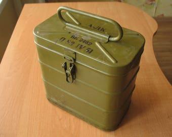 Military metal box Military Soviet equipment Soviet army USSR army USSR military equipment storage box industrial decor industrial box metal