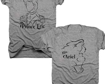 2-Pack Her Prince Eric, His Ariel t-shirt set  (B069)