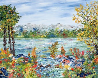 Figurative art | Oil on canvas | Landscape | Abstract Texture | Trees | Texture | Colours | Nature | Water