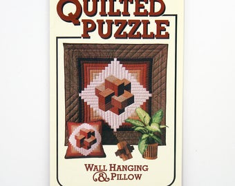 Vintage Quilting Pattern, Quilting Puzzle, Wall Hanging, 40 x 40 inches, Pillow, 18 x 18 inches, Judy Mathieson