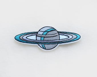 1x Saturn planet PATCH - Solar system Galaxy Nasa Space extraterrestrial Uranus Neptun science - Iron On Embroidered Applique