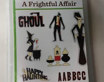 Cricut Image/Cartridge Set- A FRIGHTFUL AFFAIR 2001756- 700 IMAGES Halloween