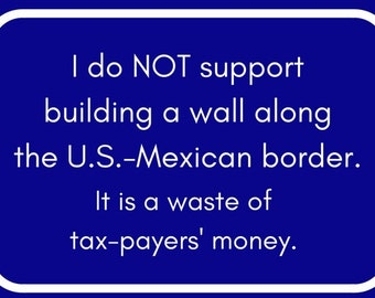 Send Progressive Postcards to Your Congress People about NO WALL.