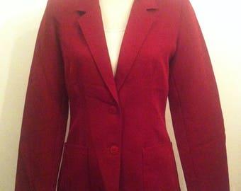 Vintage Womens Maroon Red Smart Blazer Jacket / Size 10