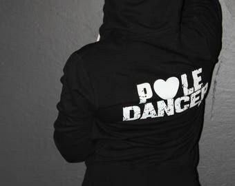 POLE DANCER Zip Hoodie - Hoodies - Pole Dance hoodys - Black