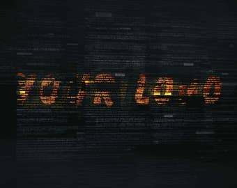 """Logo in the style of """"matrix"""", Video Intro or Outro"""