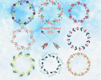 Wreath SVG File | Wreath Vector | Flower Wreath Svg | Wreath Clipart | Wreath Circle Svg | Wreath Cut File | Wreath Cricut | Laurel Svg