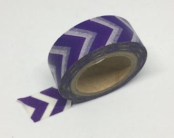 Washi Tape - Purple and White Chevron Washi Tape - Washi Tape - Decorative Tape - Adhesive
