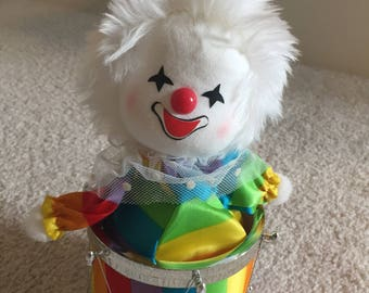 Rainbow clown music box