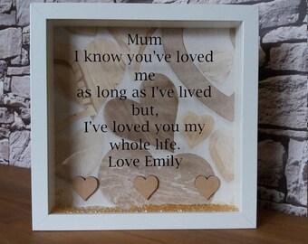 Personalised frame Mum nan gran gift mothers day