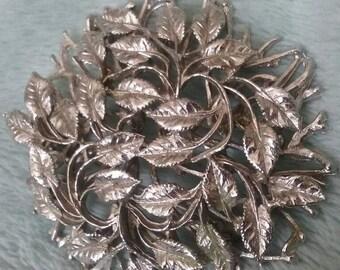 Silver vine brooch