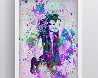 Beyonce Poster, Beyonce Print, Beyonce Gift, Beyonce Colorful Layered Tribute Fine Art, Beyonce Artwork for Fans