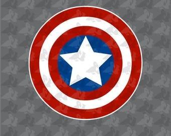 Captain America 3 Color Avengers Logo Decal Sticker