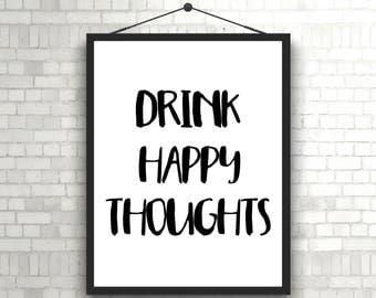Alcohol Print, Kitchen Art, Drinking Quote, Alcohol Quote, Funny Alcohol Sign, Tequila Print, Kitchen Typography, Bar Cart Art Print