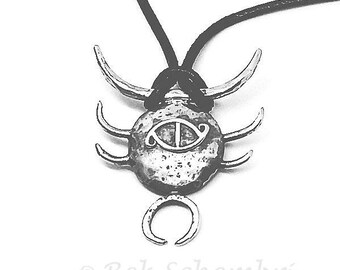 Sterling silver abstract pendant