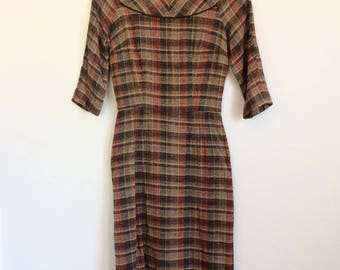 Vintage Tweed Wiggle Dress