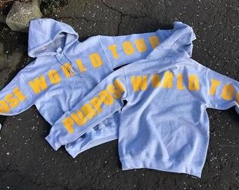 Purpose World Tour Grey/Yellow Hoodie Sweatshirt Stadium Tour Bieber