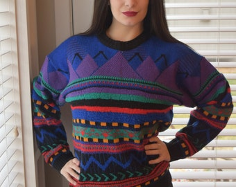80s Vintage Oversized Cosby Sweater