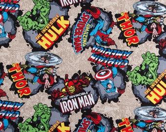 Marvel Comic Burst by Cotton Calico fabric