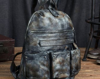 Leather bag, shoulder bag male package, travel backpack, leather package book, European and American style, men bag