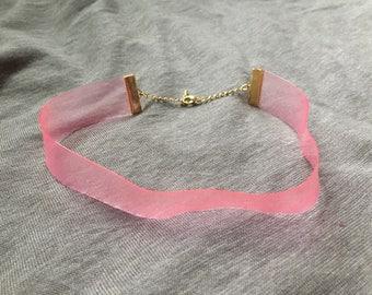 pink vinyl choker