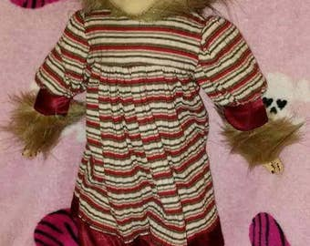 Kelly horror wolf girl up cycled ooak doll