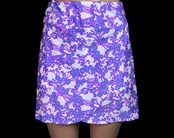 Golf / Running Wrap Skirt with Attached Short (Skort) Purple / White