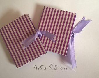 Miniature books-purple striped * BJD * SD * YOSD * doll *.