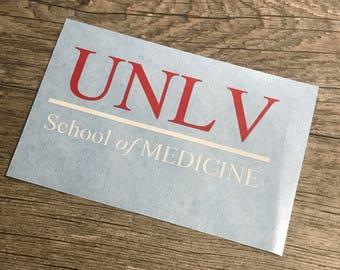 Two Color UNLV School of Medicine Decal
