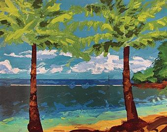Beach Water 17x25 Print