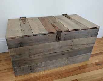 Reclaimed Wood Chest - Wooden Trunk