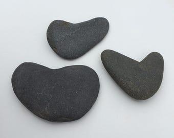 Three Heart Shaped Rocks