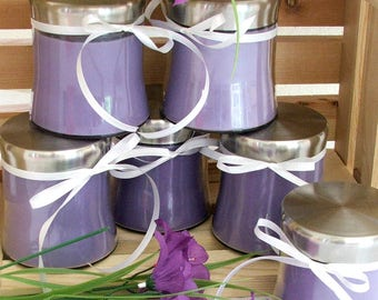 Purple Lavender or Pink Rose| Soy Wax Candle | Hand Poured Jar Candle | Floral Scented | Gifts for Her  | Shimmer House