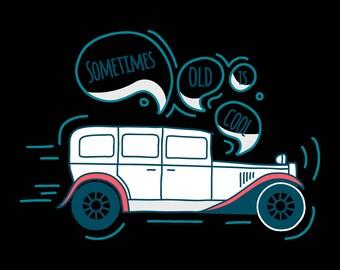 Print old car