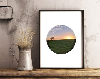 large sunset art, extra large wall art, large abstract decor, minimalist poster, gallery wall ideas, sunset photo