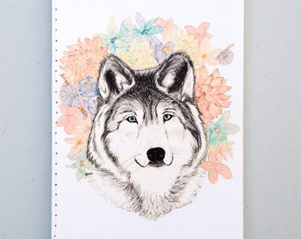 Crowned WOLF  Notebook