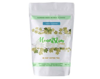 Honestslim 1 Month Detox Tea- Night Cleanse Tea 100% Organic Weight Loss, Reduce Bloating, Boost Immune System, Improve Digestion.