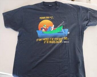 vintage fishing rule #1 t shirt extra large XL