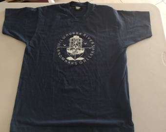 Vintage Milwaukee rivers Landmarks Gallery t shirt XL