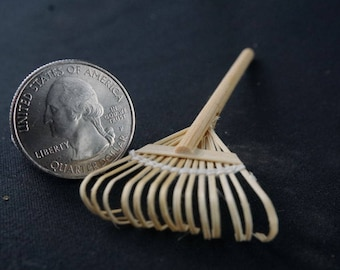 Handley House, garden supplies, fairy garden, dollhouse, miniature, Aztec: Leaf Rake