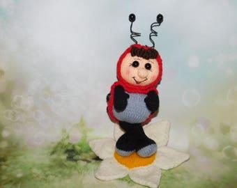 Amigurumi Ladybug Crochet Ladybug Knitted Miniature Ladybug Plush Nursery Decor Ladybug Action Figure Amigurumi Toy Ladybug stuffed toys