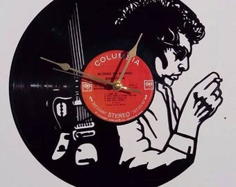 Bob Dylan vinyl record wall clock, vintage record, classic Iconic legend legendary cover, retro clock, old school pop rock and roll