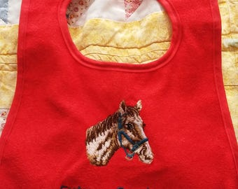 Embroidered Future Cowboy Baby Bib