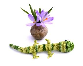 Gecko - Lizard - Reptile - Chameleon - Snake - Iguana - Dinosaur - Gift - Toys - Amigurumi gecko - Gecko amigurumi - Crochet gecko - Green