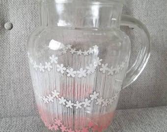Federal Glass Lemonade Pitcher