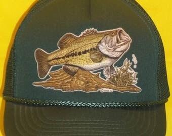 Vintage Trucker Hat Snapback Hat Fishing Hat Baseball Cap Foam Front Mesh Back Hat Mens Sports Hats Rope Brim Fish Caps by JJ T16 M7148